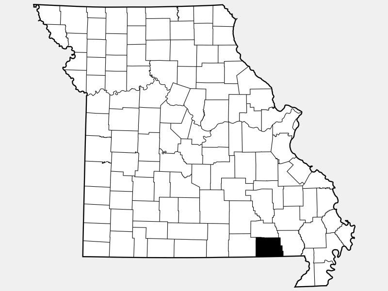 Ripley County locator map
