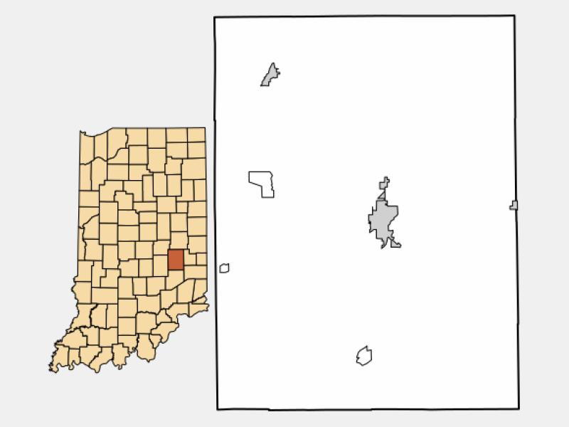 Rushville locator map