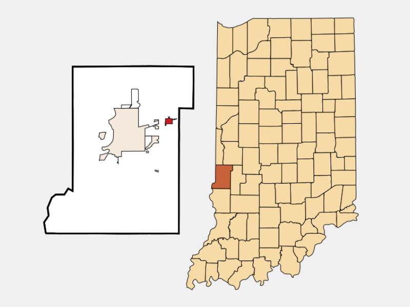 Seelyville locator map