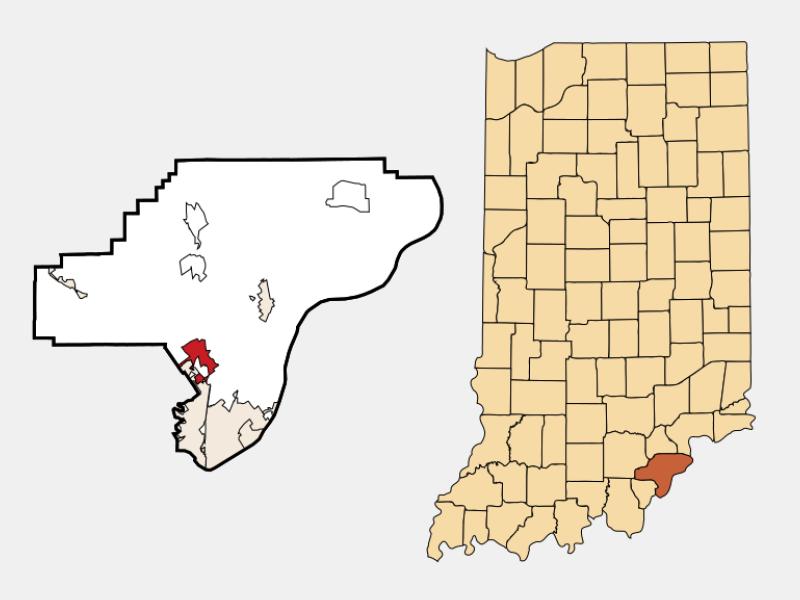 Sellersburg locator map