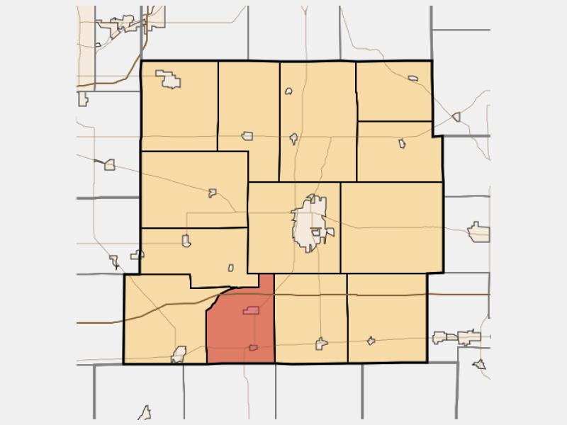 Spiceland locator map
