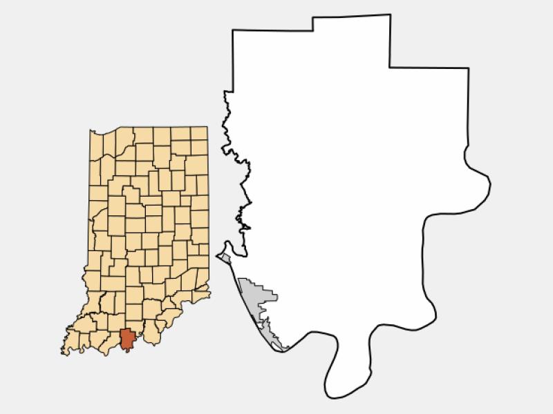 Tell City locator map