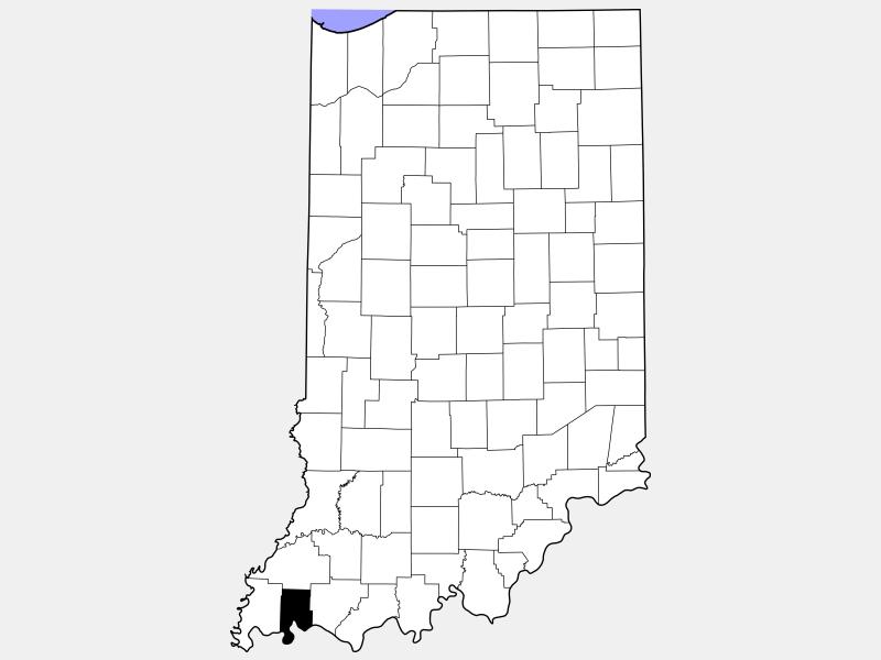 Vanderburgh County locator map