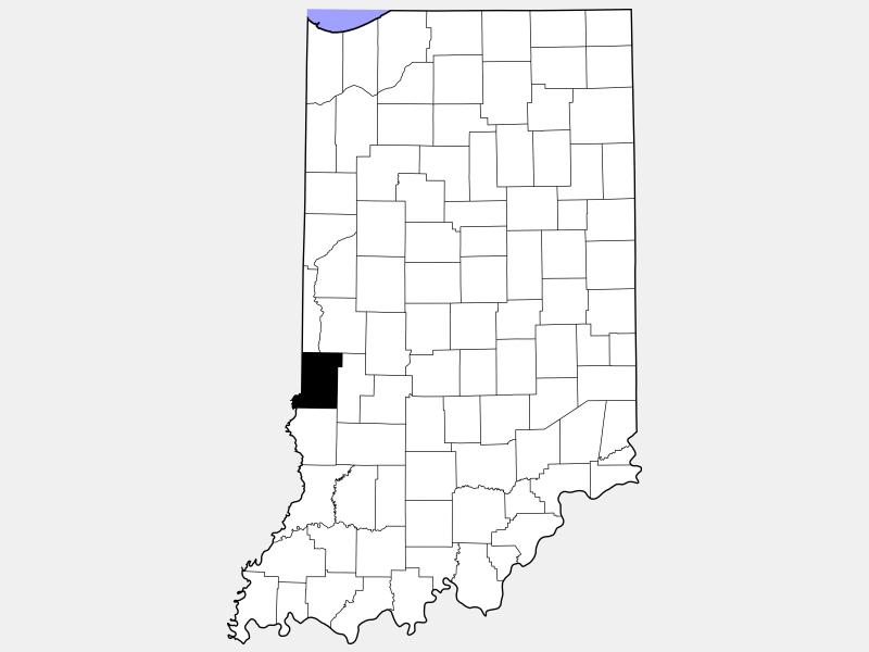 Vigo County locator map