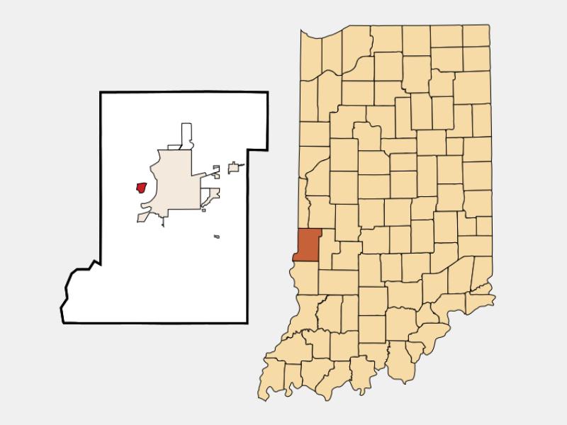 West Terre Haute locator map