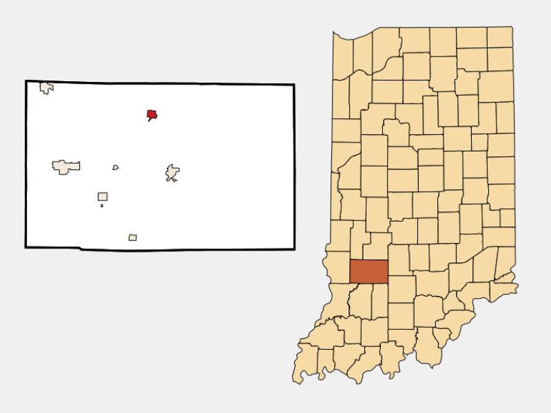Worthington locator map