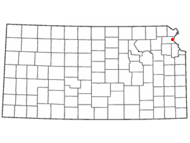 Atchison location map