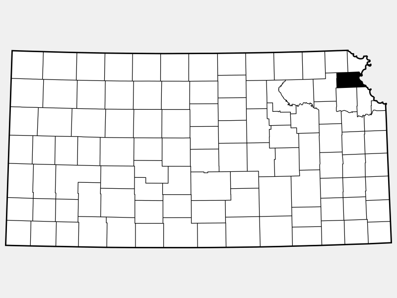 Atchison County location map