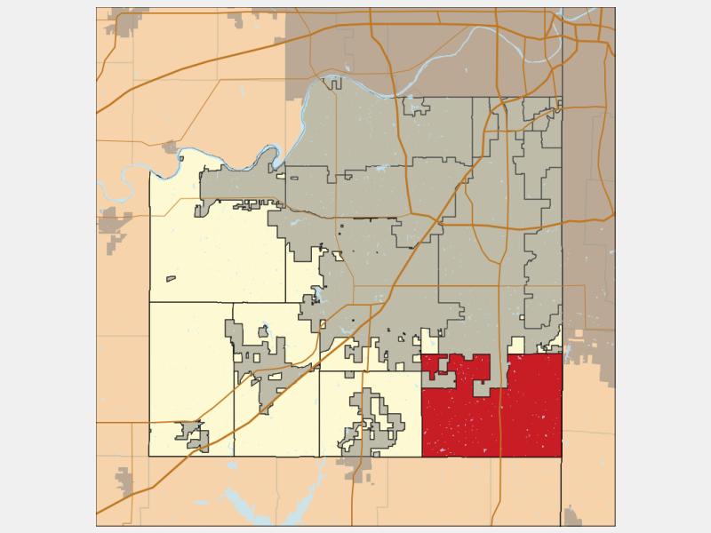 Aubry locator map