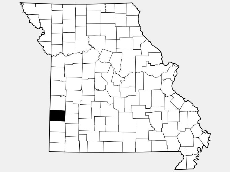 Barton County locator map