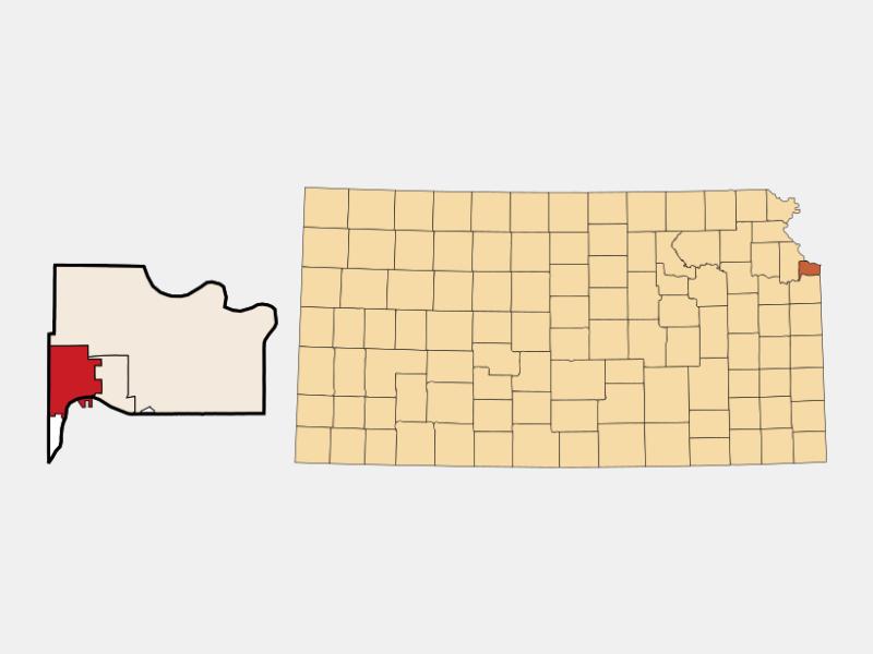 Bonner Springs locator map