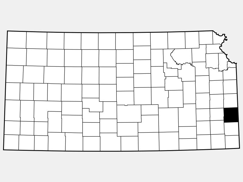 Bourbon County locator map