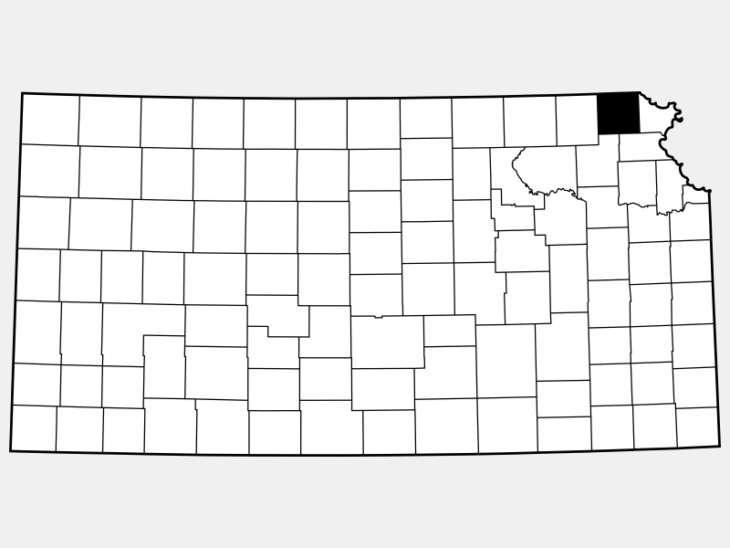 Brown County locator map