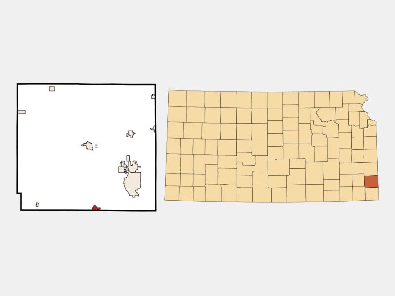 Cherokee locator map