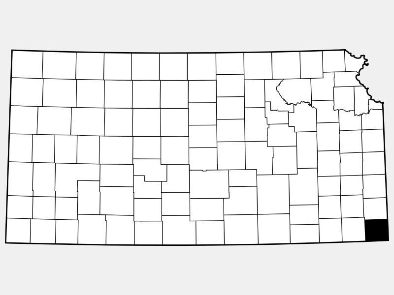 Cherokee County locator map