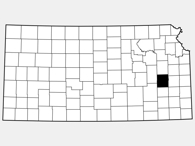 Coffey County locator map