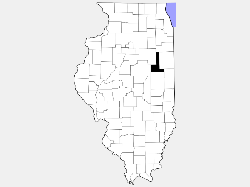 Ford County locator map