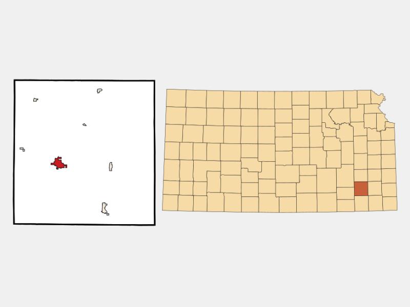 Fredonia locator map