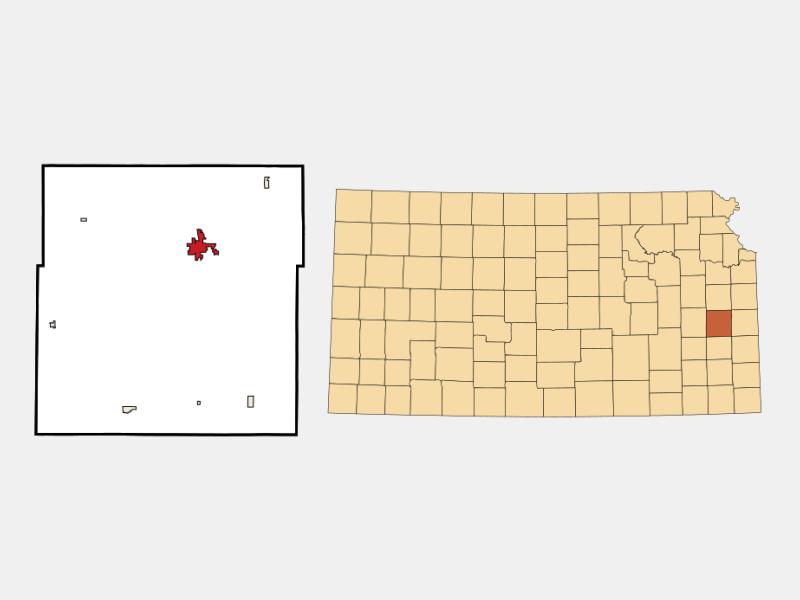 Garnett locator map