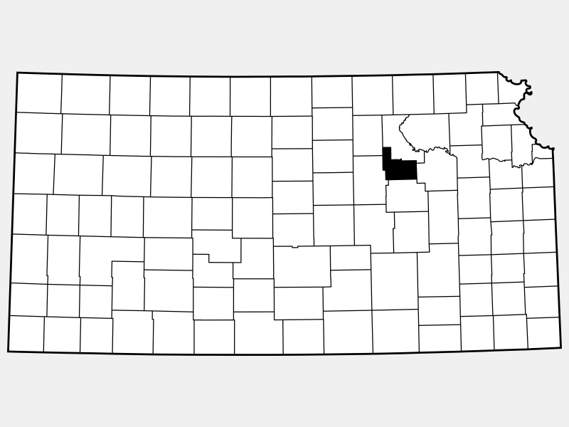 Geary County locator map