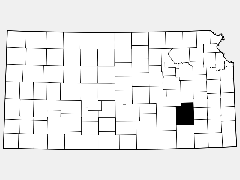 Greenwood County locator map