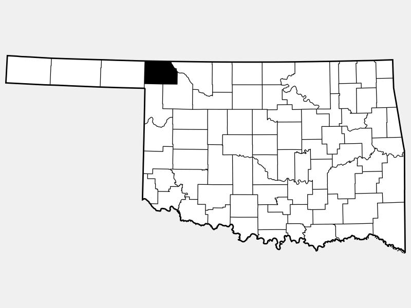 Harper County locator map