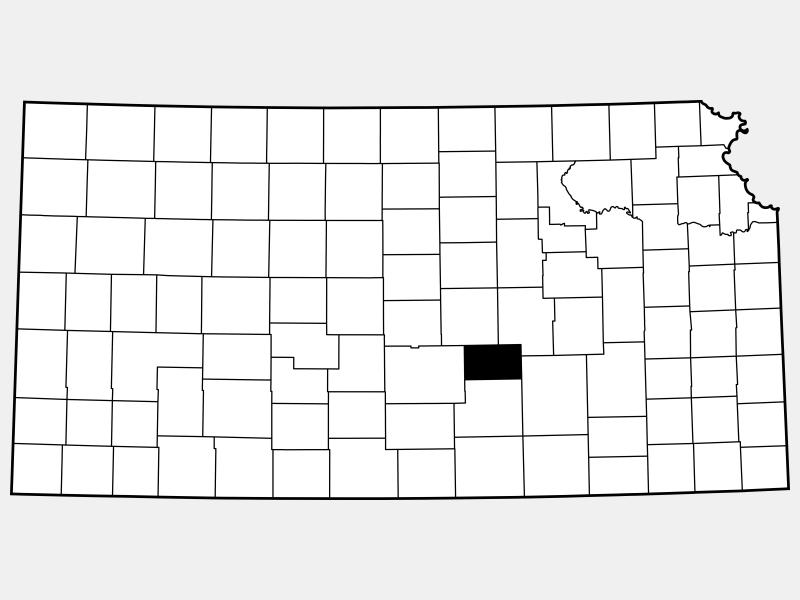 Harvey County location map