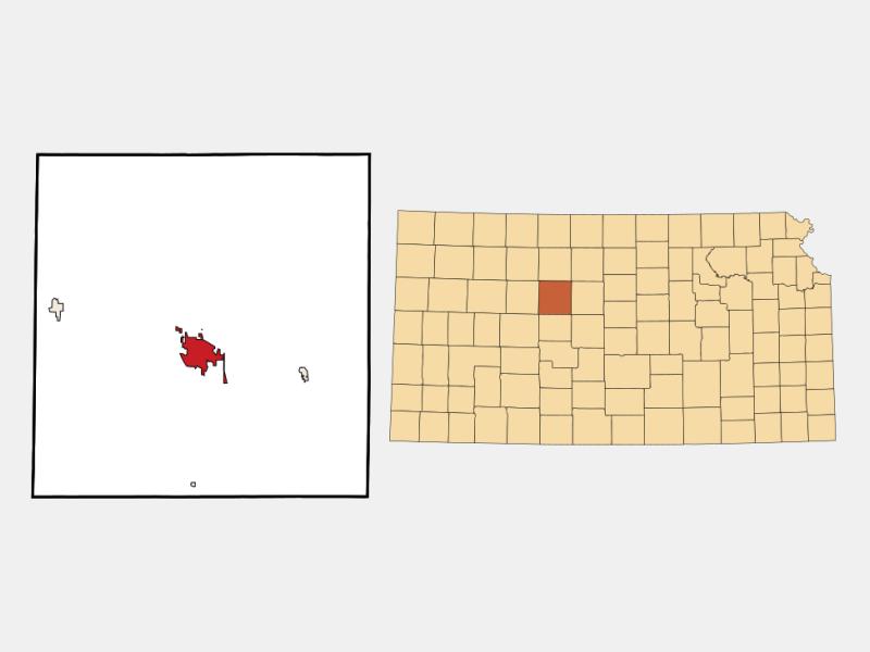 Hays locator map
