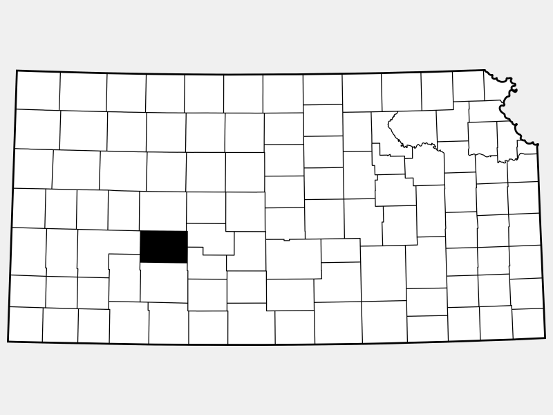 Hodgeman County locator map