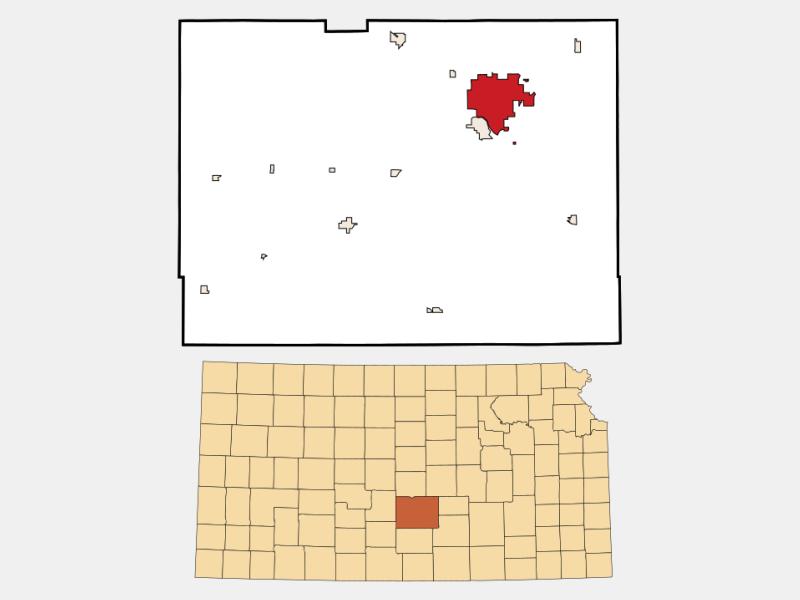Hutchinson locator map