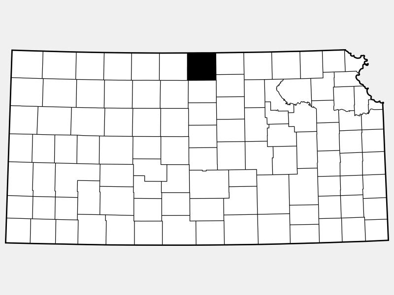 Jewell County locator map