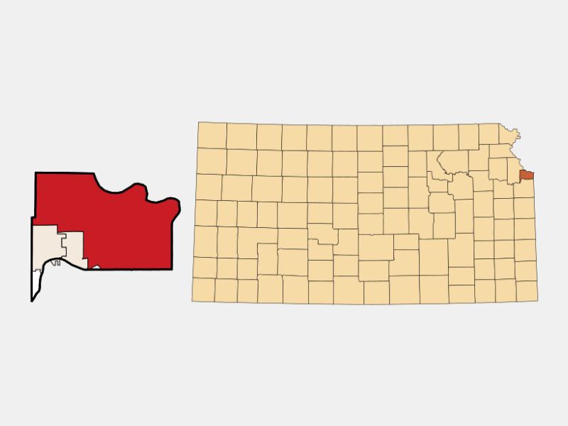 Kansas City locator map