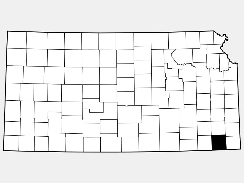 Labette County locator map