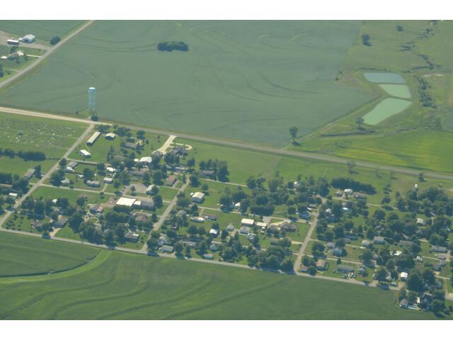 Aerial view of Lancaster  Kansas 9-2-2013 image