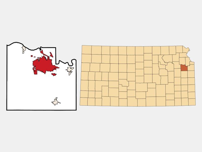 Lawrence locator map