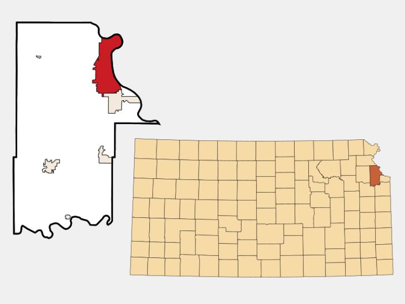 Leavenworth locator map