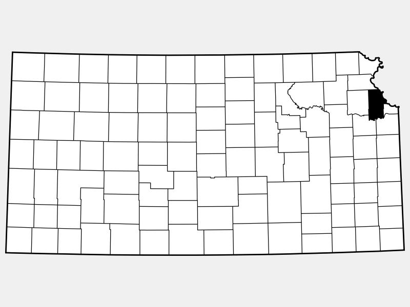 Leavenworth County locator map