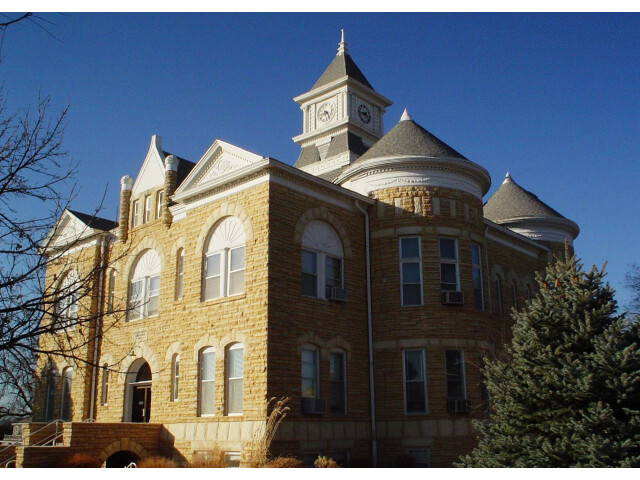 Lincoln county kansas courthouse 2005 image