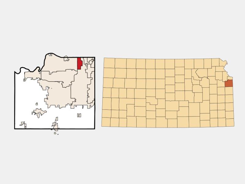 Merriam locator map