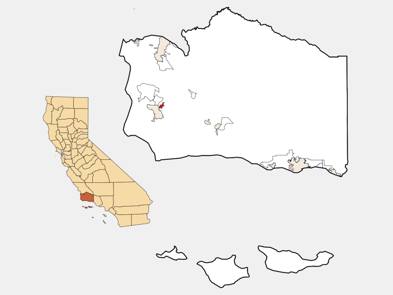 Mission Hills locator map