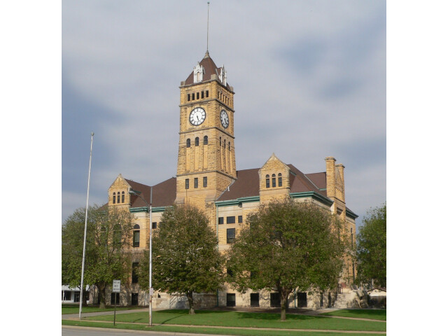 Mitchell County  Kansas courthouse from SW 1 image