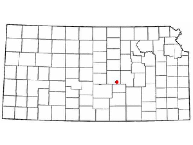 Moundridge locator map