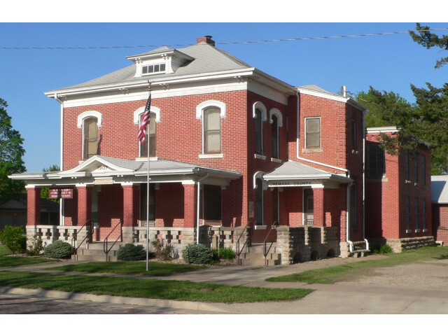 Seneca  Kansas jail and sheriff residence from SW 1 image