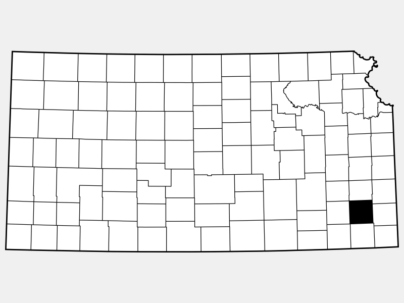 Neosho County locator map
