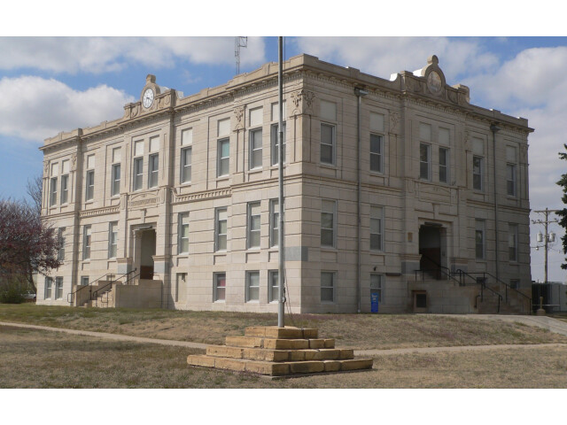 Ness County  Kansas  courthouse from SE 1 image