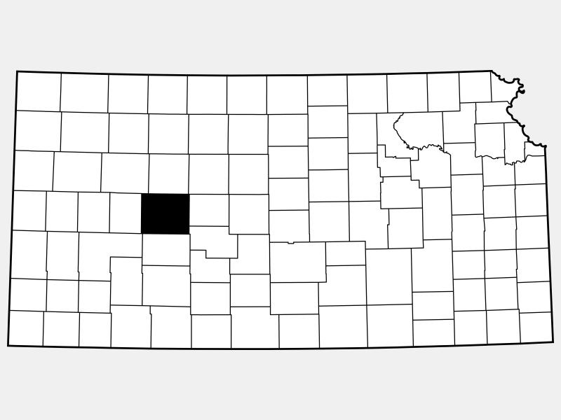 Ness County locator map