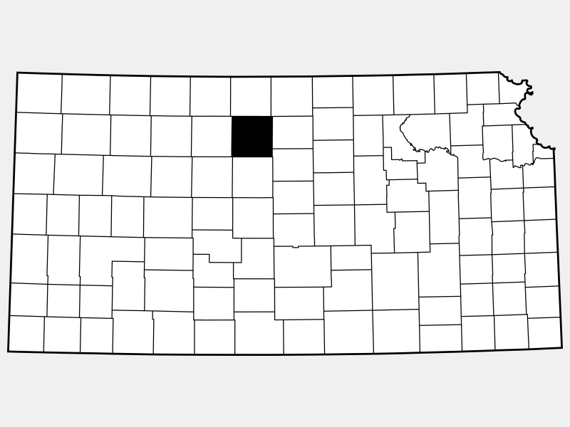 Osborne County locator map