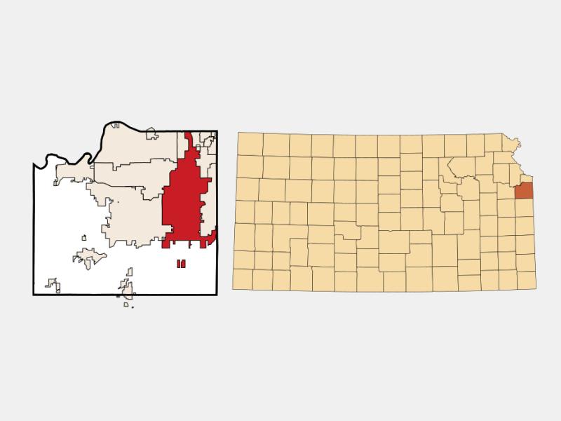 Overland Park locator map
