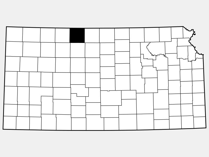 Phillips County locator map