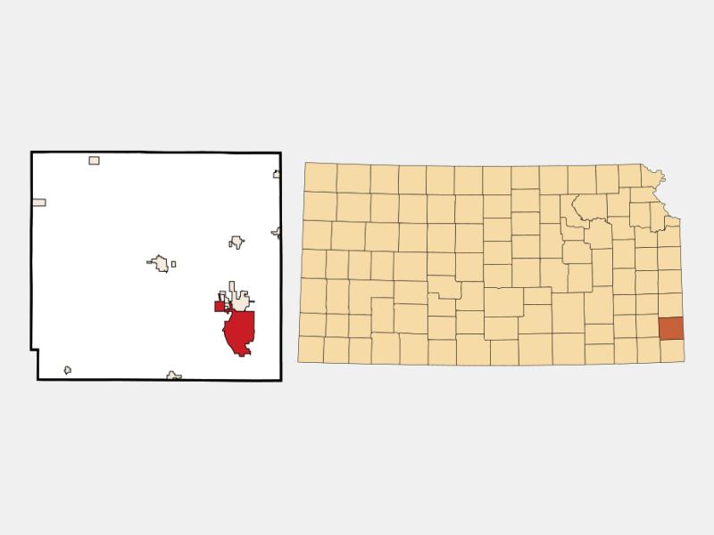 Pittsburg locator map